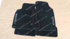 Коврики салона ЗАЗ Таврия 1102 (1996->) (текстильные Черные) Vorsan