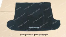 Коврик в багажник Daewoo Gentra (2013->) (текстильный Черный) Vorsan