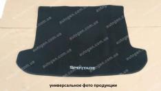 Коврик в багажник Mitsubishi Grandis (2003-2011) (7 мест со сложеным 3-й рядом) (текстильный Черный) Vorsan