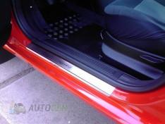 Накладки на пороги Renault Megane 4 (2015->) NataNiko