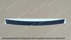 Наклейка на бампер Kia Carens (2012->) черный карбон NataNiko