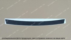 Наклейка на бампер Kia Soul (2008-2013) черный карбон NataNiko