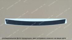Наклейка на бампер Skoda Fabia 2 Combi (универсал) (2007-2014) черный карбон NataNiko
