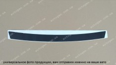 Наклейка на бампер Skoda Fabia 2 HB (2007-2014) черный карбон NataNiko