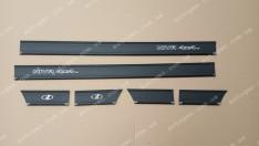 Молдинги кузова резиновые ВАЗ Нива 2121, 21213 тайга полуширокие