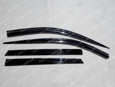 Ветровики Hyundai Santa Fe (2012-2018) (4шт) KR