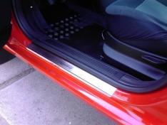 Накладки на пороги Ford Focus 2 (купе) (2008-2011) NataNiko