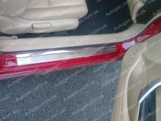 Накладки на пороги Honda Accord 8 SD седан (Европа) (2008-2013) NataNiko