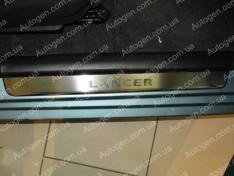 Накладки на пороги Mitsubishi Lancer 9 (2003-2007) NataNiko