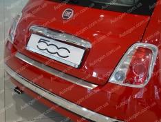 Накладка на бампер Fiat 500 (2007->) NataNiko с загибом