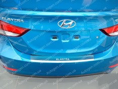 Накладка на бампер Hyundai Elantra 5 (MD) (2014-2016) NataNiko с загибом