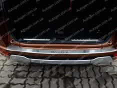 Накладка на бампер Land Rover Range Rover Evoque (2011-2018) NataNiko с загибом