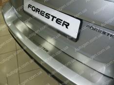 Накладка на бампер Subaru Forester 3 (2008-2013) NataNiko ровная