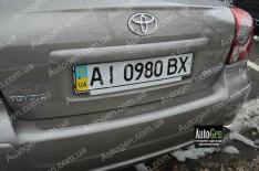 Накладка на бампер Toyota Avensis 2 SD (2003-2008) NataNiko ровная (без логотипа)