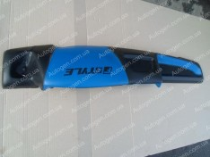Накладка на панель ВАЗ 21099, ВАЗ 2109 синяя высокая панель