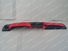 Накладка на панель ВАЗ 21099, ВАЗ 2109 красная высокая панель