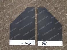 Брызговики универсальные Racing (2шт) черные с металлом