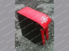 Подлокотник бар ВАЗ 2108, ВАЗ 2109, ВАЗ 21099 красный с вышивкой