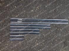 Молдинги кузова резиновые ВАЗ 2101, ВАЗ 2102, ВАЗ 2103, ВАЗ 2104, ВАЗ 2105, ВАЗ 2106, ВАЗ 2107 узкие 1 хром полоса