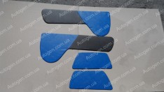 Обшивка дверей карты ЗАЗ Таврия синяя