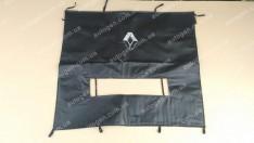 Утеплитель решетки радиатора и бампера Renault Trafic (2001-2014) (большой) мягкий черный