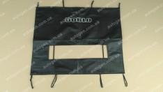 Утеплитель решетки радиатора и бампера Fiat Doblo 1 (2004-2010) (большой) мягкий черный