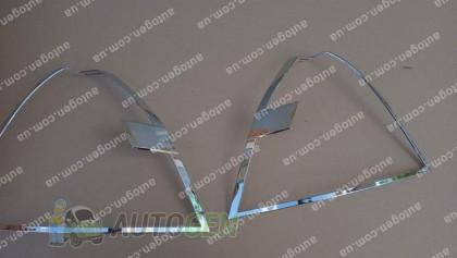 Auto clover Хром Накладки на фонари ЗАЗ Vida SD (2012->) KR Хром