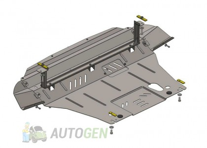 """Titanium DV Защита двигателя Toyota Avensis 1 (1998-2003)     """"Titanium"""""""