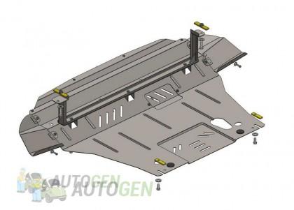 """Titanium Защита двигателя Chevrolet Aveo T200, T250, T255 (2002-2011) (для V-1.2)  """"Titanium"""""""