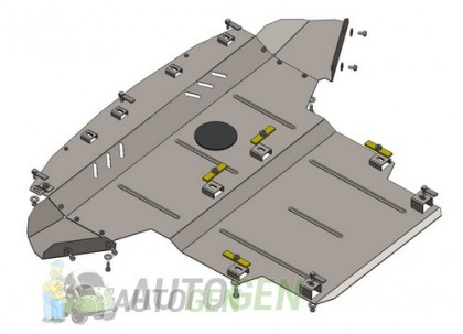 "Titanium DV Защита двигателя Kia Sportage (2016->) (для USA) (+радиатор) ""Titanium"""