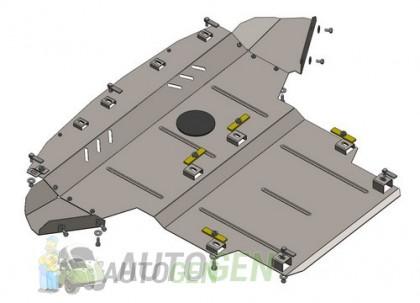 """Titanium DV Защита двигателя и радиатора Infiniti Q50 (2013->) (V37) (4WD) (V-3.0) """"Titanium"""""""