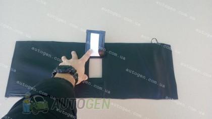Утеплитель решетки радиатора ВАЗ 2103, ВАЗ 2106 (Люкс) мягкий черный
