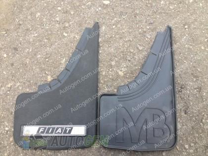 Mud pl (с логотипом) Брызговики универсальные Fiat ( 2шт.) (с надписью)
