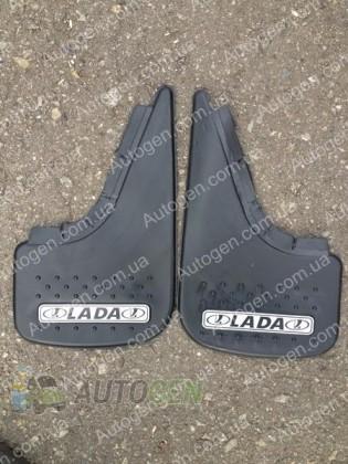 Mud pl (с логотипом) Брызговики универсальные ВАЗ LADA ( 2шт.) (с надписью)