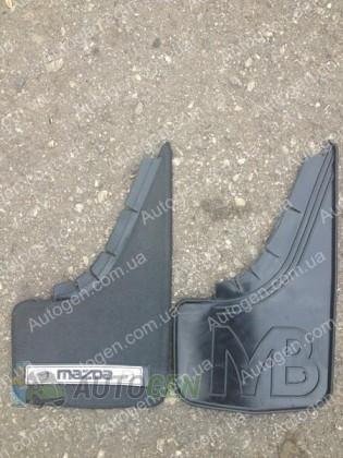 Mud pl (с логотипом) Брызговики универсальные Mazda ( 2шт.) (с надписью)