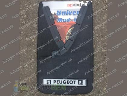 брызговики универсальные с надписью Peugeot