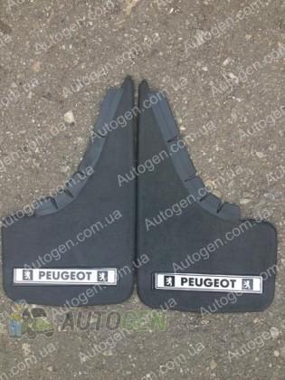 Mud pl (с логотипом) Брызговики универсальные Peugeot ( 2шт.) (с надписью)