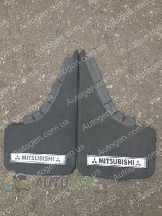 Mud pl (с логотипом) Брызговики универсальные Mitsubishi ( 2шт.) (с надписью)