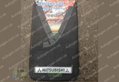 брызговики универсальные с надписью Mitsubishi