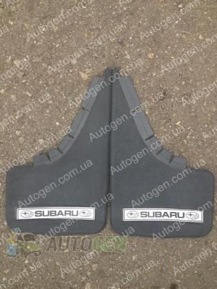 Mud pl (с логотипом) Брызговики универсальные Subaru ( 2шт.) (с надписью)