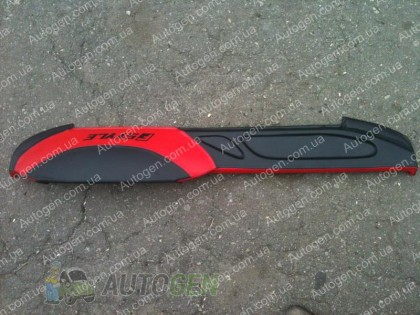 Накладка на панель ВАЗ 2107 красная