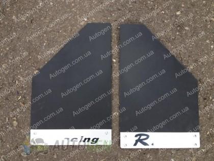 Брызговики универсальные Ricing (2шт) черные с металлом